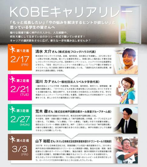 【春休みは!】KOBEキャリアリレー参加者募集中!